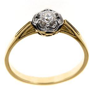 Pierścionek z diamentem B_429