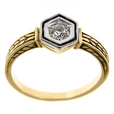 Pierścionek z diamentem B_426