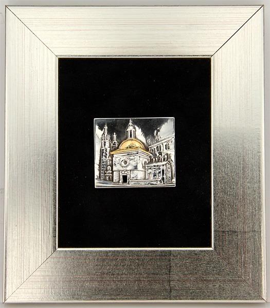 """Obrazek srebrny """"Kościół św. Wojciecha"""""""