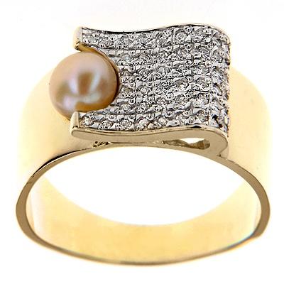 Pierścionek z perłą C_631