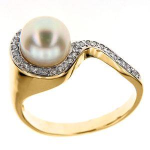 Pierścionek z perłą C_544